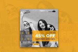 Up TO 45% Off Summer Arrivals Banner