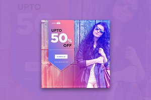 50% Off Instagram Banner