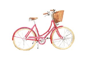 Watercolor bicycle