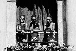 Three african american girls