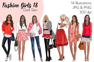 Fashion Girls 18 - Dark skin