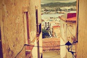 Ibiza: retro photo of architecture