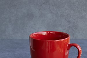 red cup on natural morning light