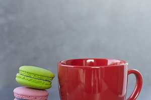 Sweet Break Macaron and cup of coffee