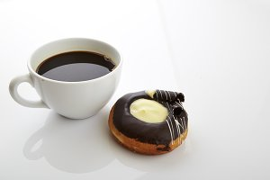Coffee break time with donut