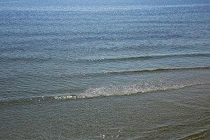 beautiful seascape sea horizon and blue sky