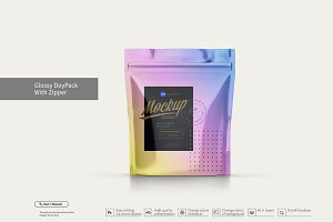 Glossy Doy-Pack With Zipper