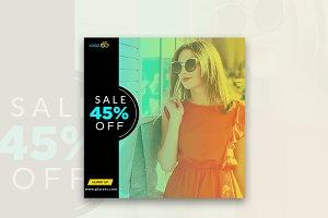 Sale 45% Off Instagram Banner