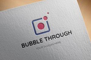 Bubble Through Logo Template
