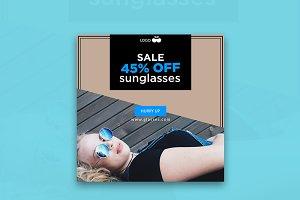 Sale 45% Off Sunglasses Banner