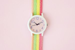Wristwatch, Sour Stick, Colorful
