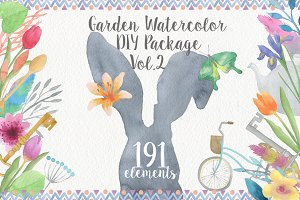 Garden Watercolor DIY