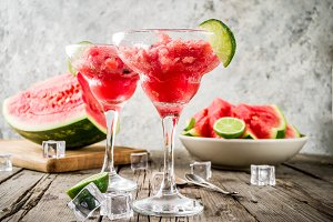 Watermelon and lime granita