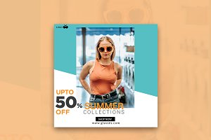 Summer 50% Off Instagram Banner