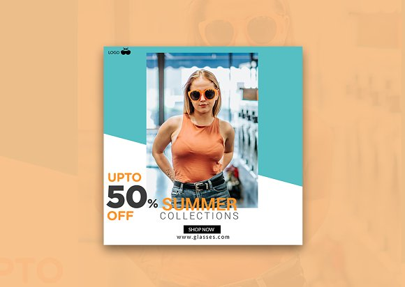 Summer 50% Off Instagram Banner in Instagram Templates