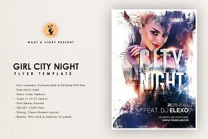 Girl City Night