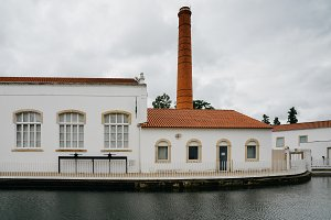 An old factory next to a canal in Tomar, Santarem district