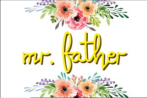 Father font