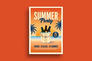 Summer Beer Party Event Flyer