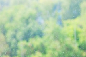 Raining weather waterdrops bokeh background
