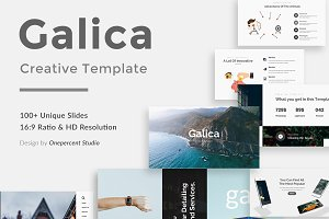 Galica Creative Google Slide Templat