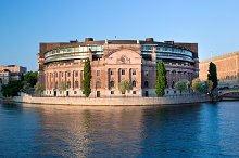 Parliament building in Stockholm