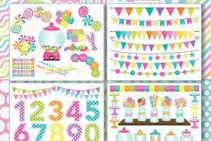 Candy land Clipart Bundle + SVG