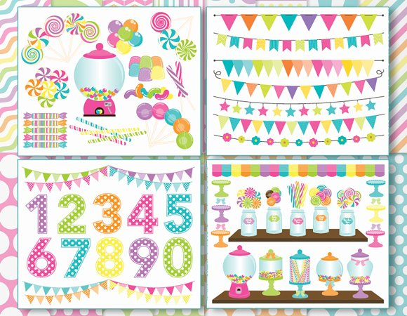 Candy Land Clipart Bundle Svg Illustrations Creative Market