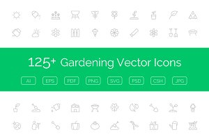 125+ Gardening Vector Icons