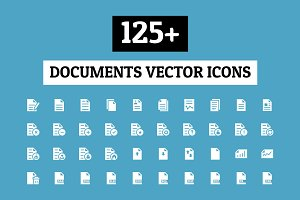 125+ Documents Vector Icons