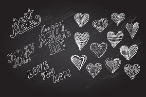 Mothers Day Design Elements
