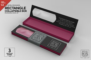 Rectangle Collapsible Box Mockup
