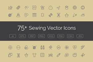 75+ Sewing Vector Icons