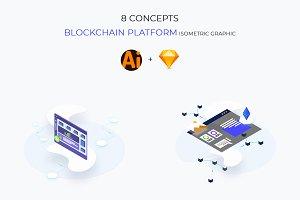 Blockchain Platform Isometric v.5