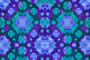 Geometric Modern Floral Seamless Pattern