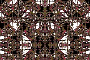 Geometric Ornate Abstract Grunge Pattern
