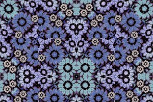 Geometric Stylized Floral Seamless Pattern