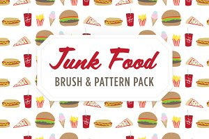 Junk Food Brush, Pattern & Icons