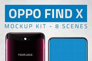 Oppo Find X Kit Mockup