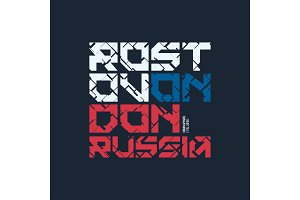 Rostov on Don Russia styled vector t-shirt and apparel design, t