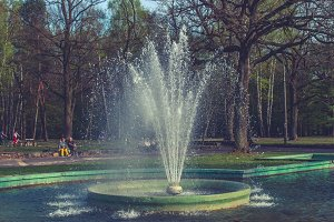 Fountain in the park 1