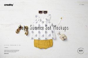 Baby Summer Set 2 Mockup Set