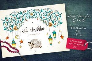 2. Eid Al-Adha Pre-Made Card