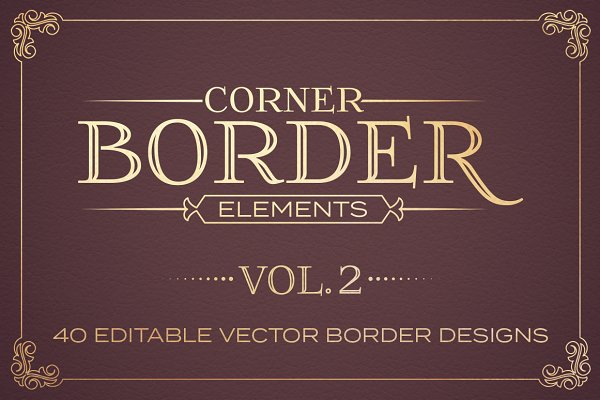 Corner Border Elements Vol. 2