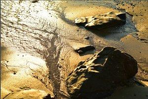 seashore rocks Sea of Cortez