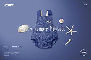 Baby Romper 4 Mockup Set