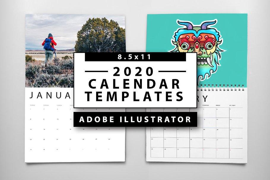 Layout Calendario 2020.2020 Calendar Templates Templates Creative Market