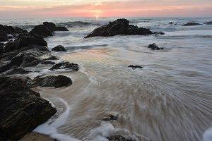 Sunset Pacific Coast of Baja