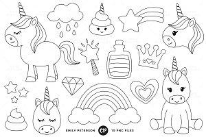 Unicorn Digital Stamps