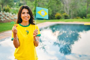 Attractive Brazilian Football Fan